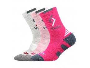 Dětské ponožky 3 kusy v balení VoXX Tronic mix dívčí