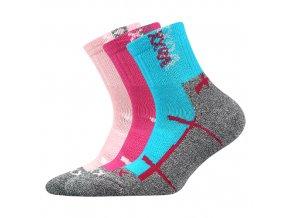 Dětské ponožky 3 kusy v balení VoXX Wallík mix dívčí