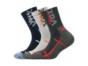 Dětské ponožky 3 kusy v balení VoXX Wallík mix chlapecké