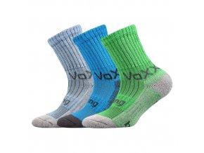 Dětské bambusové ponožky 3 kusy v balení VoXX Bomberik mix c