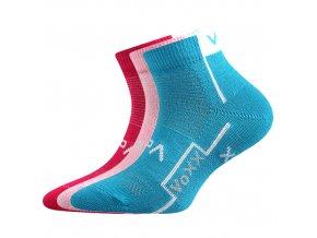 Dětské ponožky 3 kusy v balení VoXX Kaotik dívčí