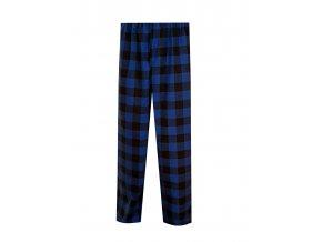 Pánské Pyžamové kalhoty Flanel Foltýn dlouhé modročerná kostka