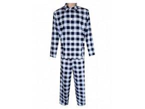 Pánské Pyžamo Flanelové FOLTÝN PF14 modrobílá kostka