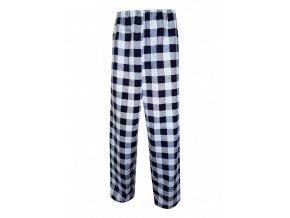 Pánské Pyžamové kalhoty Flanel Foltýn dlouhé modrobílá kostka