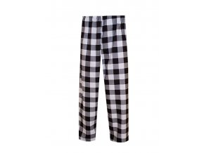 Pánské Pyžamové kalhoty Flanel Foltýn dlouhé černobílá kostka