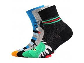Dětské ponožky 3 kusy v balení Boma 057-21-43 - VI mix vzorů A