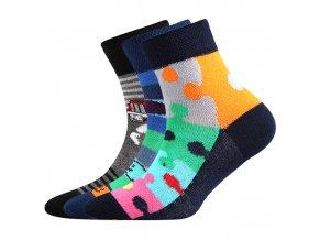Dětské ponožky 3 kusy v balení Boma 057-21-43 - VI mix vzorů B