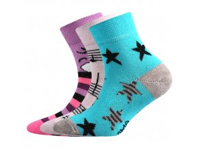 Dětské ponožky 3 kusy v balení Boma 057-21-43 - VI mix vzorů C