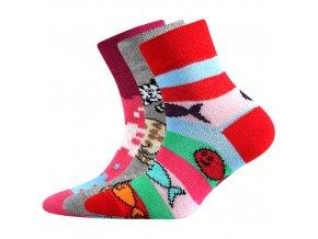 Dětské ponožky 3 kusy v balení Boma 057-21-43 - VI mix vzorů D