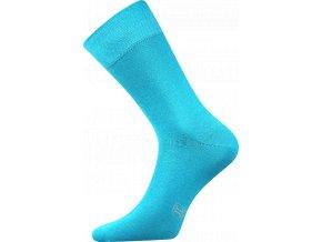 Společenské Ponožky Lonka Decolor tyrkysová