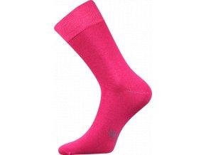 Společenské Ponožky Lonka Decolor tmavě růžová