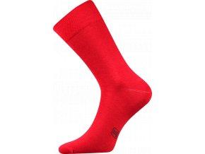 Společenské Ponožky Lonka Decolor červená