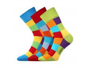 Společenské ponožky 3 kusy v balení Lonka Decube mix A