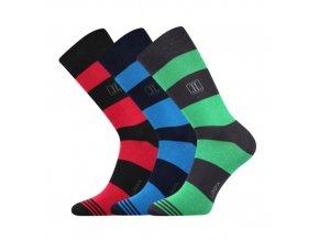 Společenské ponožky 3 kusy v balení Lonka Destrip