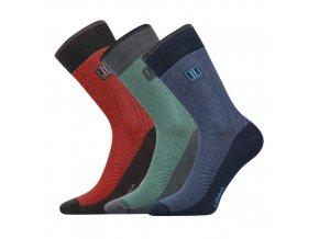 Společenské ponožky 3 kusy v balení Lonka Destrong mix B