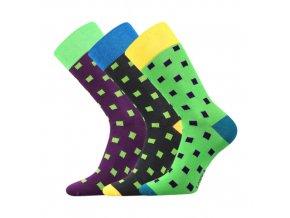 Společenské ponožky 3 kusy v balení Lonka Wearel 002