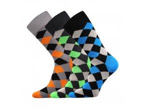 Společenské ponožky 3 kusy v balení Lonka Wearel 004