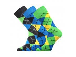 Společenské ponožky 3 kusy v balení Lonka Wearel 005