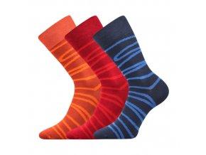 Společenské ponožky 3 kusy v balení Lonka Wearel 006