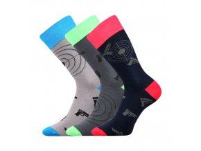 Společenské ponožky 3 kusy v balení Lonka Wearel 007