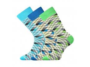 Společenské ponožky 3 kusy v balení Lonka Wearel 008