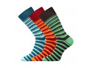 Společenské ponožky 3 kusy v balení Lonka Wearel 009