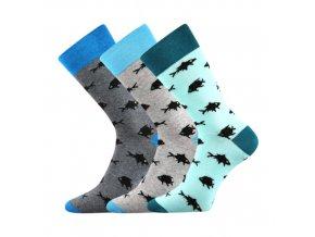 Společenské ponožky 3 kusy v balení Lonka Wearel 010