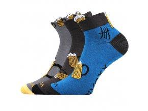 Společenské ponožky 3 kusy v balení VoXX Piff