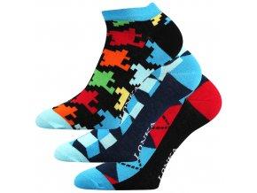 Společenské ponožky 3 kusy v balení Lonka Weep mix B