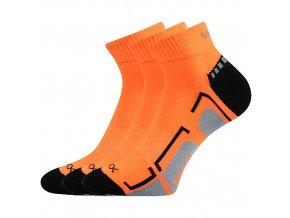 Dětské ponožky 3 kusy v balení VoXX Flashik oranžové