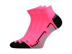 Dětské ponožky 3 kusy v balení VoXX Flashik růžové