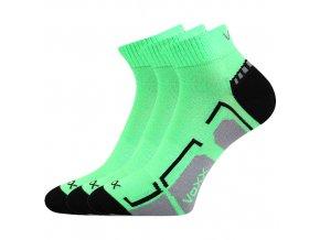 Dětské ponožky 3 kusy v balení VoXX Flashik zelené