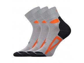 Ponožky VoXX Disc světle šedá 3 kusy v balení