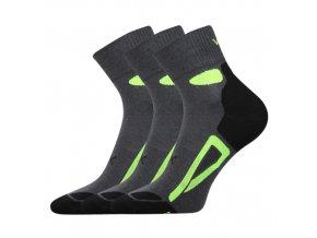 Ponožky VoXX Disc tmavě šedá 3 kusy v balení