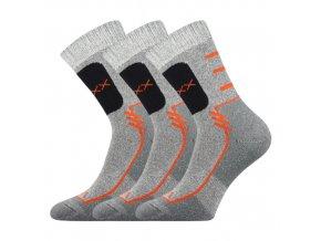 Sportovní Ponožky VoXX Limit světle šedá 3 kusy v balení