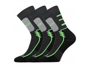Sportovní Ponožky VoXX Limit tmavě šedá 3 kusy v baleníí