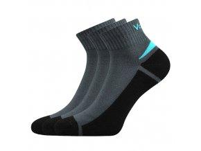 Ponožky VoXX Aston tmavě šedá 3 kusy v balení