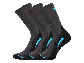 Sportovní Ponožky VoXX Trim tmavě šedá 3 kusy v balení