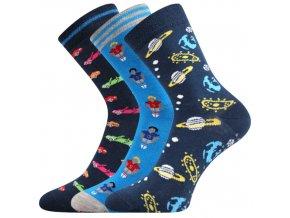 Dětské ponožky 3 kusy v balení VoXX Filip protiskluzové mix chlapecké