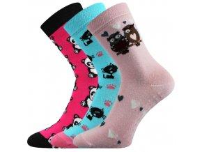 Dětské ponožky 3 kusy v balení VoXX Filip protiskluzové mix dívčí