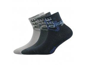 Dětské ponožky 3 kusy v balení VoXX Offik mix vzorů A
