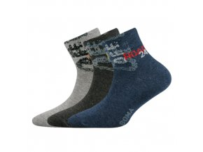 Dětské ponožky 3 kusy v balení VoXX Offik mix vzorů B