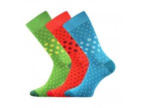 Společenské ponožky 3 kusy v balení Lonka Wearel 015