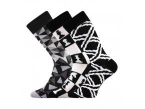 Společenské ponožky 3 kusy v balení Lonka Woodoo mix C