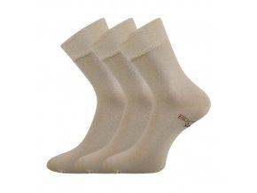 Zdravotní ponožky 3 kusy v balení Lonka Bioban béžová