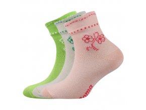 Dětské ponožky 3 kusy v balení Boma Květka mix vzorů A