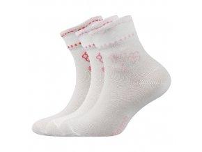 Dětské ponožky 3 kusy v balení Boma Květka mix vzorů C