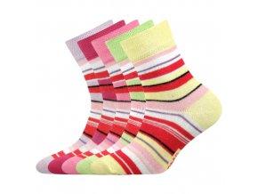 Dětské ponožky 5 párů v balení Boma Profa mix vzorů A