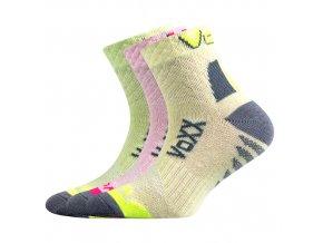 Dětské ponožky 3 kusy v balení Kriptoxik dívčí