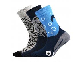 Dětské ponožky 3 kusy v balení Boma 057-21-43 - V mix vzorů A Chlapec